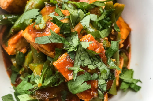 Sperziebonen-met-tofu-in-chraimehsaus